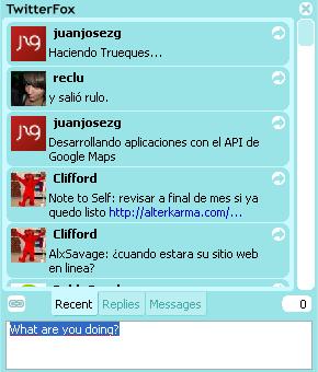 TwitterFox, Actualiza Twitter desde tu Firefox