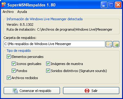 Respaldar Iconos del MSN